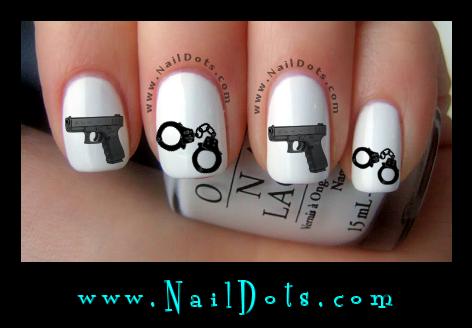 Pretty nail Decals - Nail Decals - Nail Dots - Nail ...