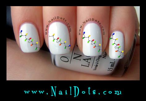 Holiday Nail Decals - Nail Decals - Nail Dots - Nail Stickers - Nail Art - Cute Nails