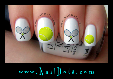 Sport nail decals nail decals nail dots nail stickers nail tennis nail decals prinsesfo Image collections